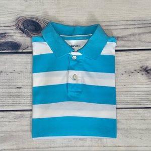 Gap Striped Short Sleeve Polo Shirt